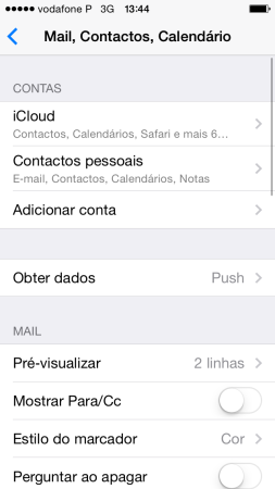 Configurar o seu e-mail no iPhone / iPad 2