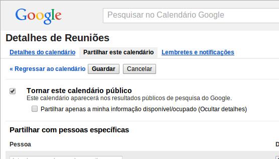 Importar Calendário do Google 2