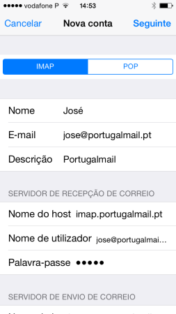 Configurar o seu e-mail no iPhone / iPad 6