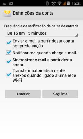 Configurar o seu e-mail no Android 6