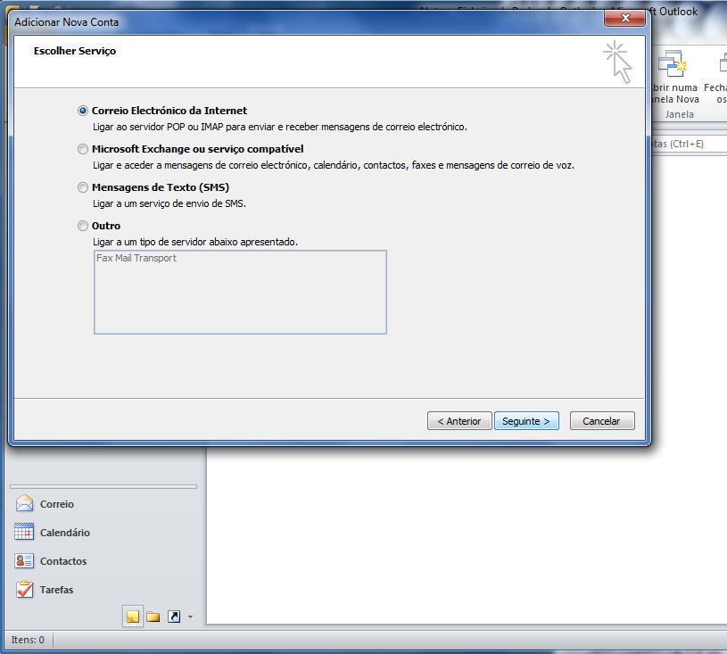Outlook 2010 - Email Gratuito Portugalmail 4