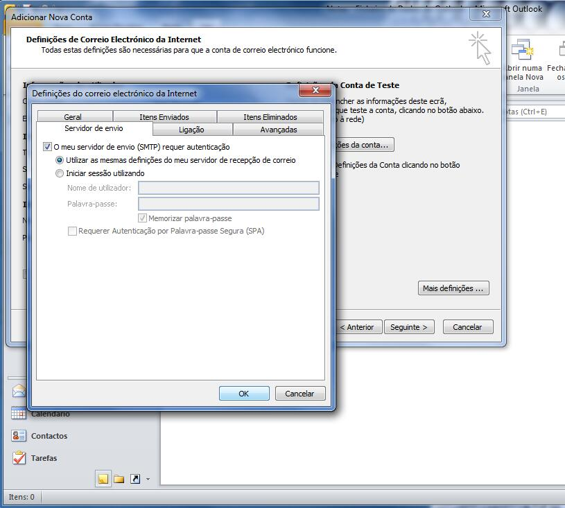 Outlook 2010 - Email Gratuito Portugalmail 6